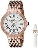 """GV2 by Gevril Women's 9102 """"Astor"""" Diamond-Studded Rose Gold Ion-Plated Stainless Steel Watch"""