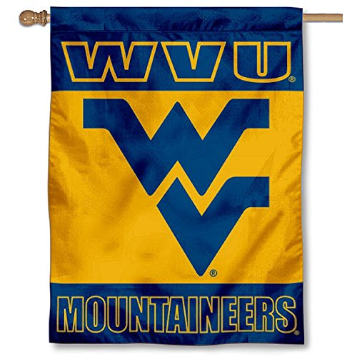 College Flags and Banners Co. WVU Mountaineers Double Sided House Flag