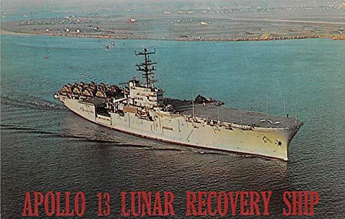 - Military Battleship Postcard, Old Vintage Antique Military Ship Post Card Apollo 13 Lunar Recovery Ship, USS Iwo Jima Unused