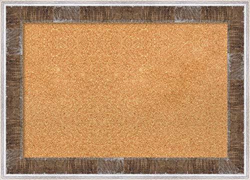 Amanti Art Natural Cork Farmhouse Brown Narrow Framed Bulletin Boards, 29 x 21, by Amanti Art (Image #5)