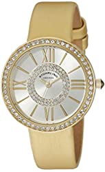 Stuhrling Original Women's 566.04 Vogue Yellow-Gold Stainless Steel Watch
