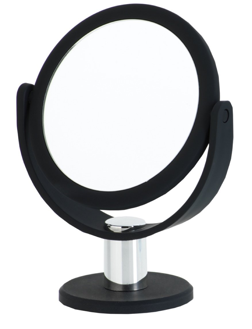 Danielle Creations Black Round Vanity Mirror, 5X Magnification by Danielle Enterprises