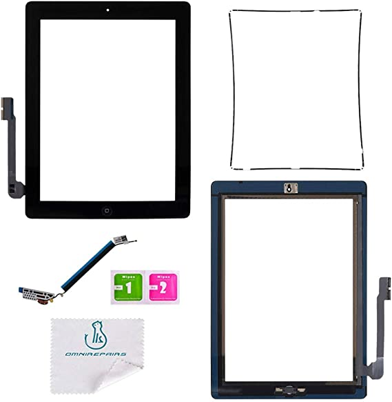 Glass Touch Screen Digitizer W// Home Button Assembly for iPad 3 3rd Gen White US