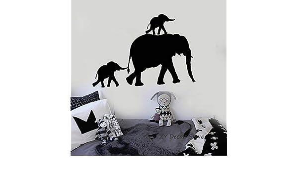 Geiqianjiumai Familia de Elefantes Tatuajes de Pared Animal Lindo ...