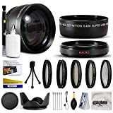 10 Piece Ultimate Lens Package For the Nikon D100 D200 D300 D300S D700 D7000 D7100 D3000 D3100 D3200 D5000 D5100 D5200 D5300 D40 D40X D50 D60 D70 D90 D80 Includes .43x High Definition II Wide Angle Panoramic Macro Fisheye Lens + 2.2x Extreme High Definition AF Telephoto Lens + Professional 5 Piece Filter Kit (UV, CPL, FL, ND4 and 10x Macro Lens) + Flower Lens Hood + ring adapter + Deluxe Lens Cleaning Kit + LCD Screen Protectors + Mini Tripod + 47stphoto Microfiber Cloth + $50 Photo Print Gift