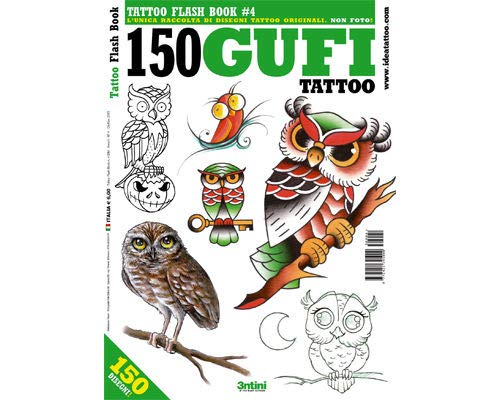OWL Tattoo Flash Design Book 64-Pages -