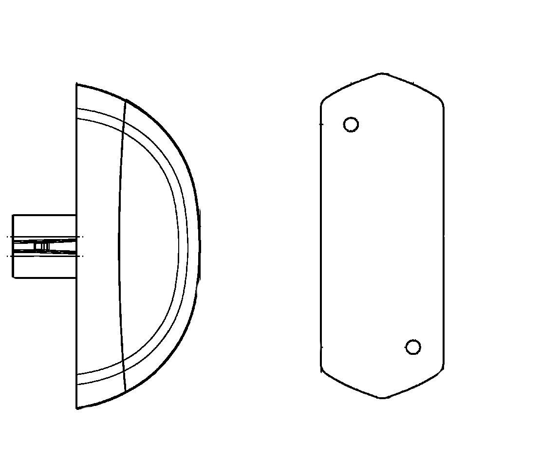 12 V seitlicher Anbau 500 mm Kabel HELLA 2XS 205 020-041 Umrissleuchte LED wei/ß//rot