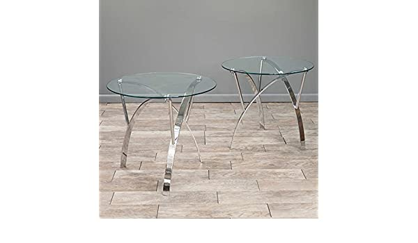 6111a3244bd9 Gavin Glass End Tables 2-pack  Amazon.ca  Home   Kitchen