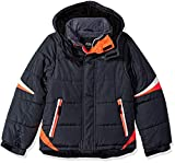 London Fog Boys' Active Puffer Jacket Winter Coat (8, Real Grey Orange)