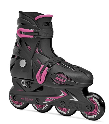 Roces 400687 Model Orlando III Kids Inline Skate, US 4-7, Black/Pink by Roces