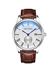 Mens Multi Function Business Luminous Hour Clock Boys Casual Dress Sport Calendar Wrist Watches Silver