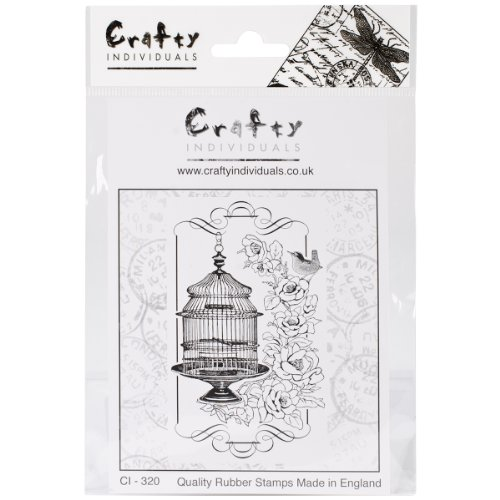Crafty Individuals CI-320 Unmounted Rubber Stamp, Floral Birdcage