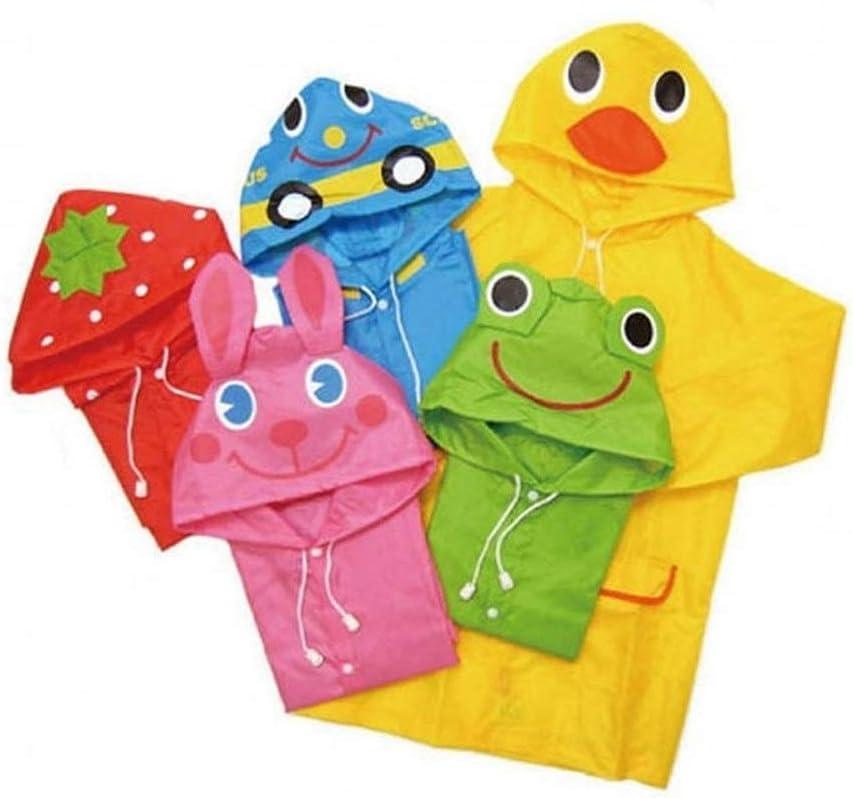 NOBRAND Convenient 1pcs Cartoon Animal Style Waterproof Kids Raincoat For Children Rain Coat Rainwear Rainsuit Student Animal Style Raincoat (Color : Pink) Blue