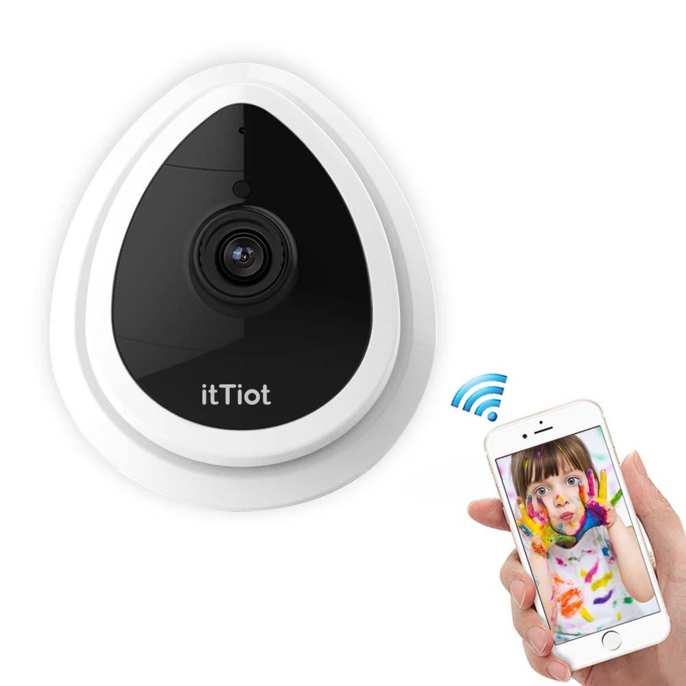 HD 1080p Wireless Indoor Security Camera, 2 4G WIFI Dome IP
