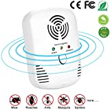 Maypott Ultrasonic Pest Repeller & Mice Repellent- Pest Control Ultrasonic Repellent Plug In Home for Mouse, Spiders, Mosquitoes, Roaches, Bed Bugs, Ants, Fleas, Non-toxic Environment-friendly, Humans