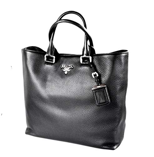 Prada Women's BN2876 Black Leather Shopper