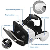 Canbor Virtual Reality Headset, VR Headset VR Goggles With Stereo Headphones VR Glasses for 3D Movies and Games Compatible with 4.7-6.2 Inches Apple iPhone, More Smartphones
