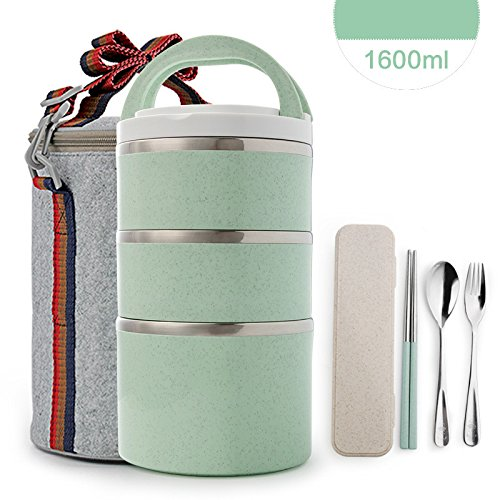 Modalee Insulated Thermal Bento Box Style 304 Stainless Stee