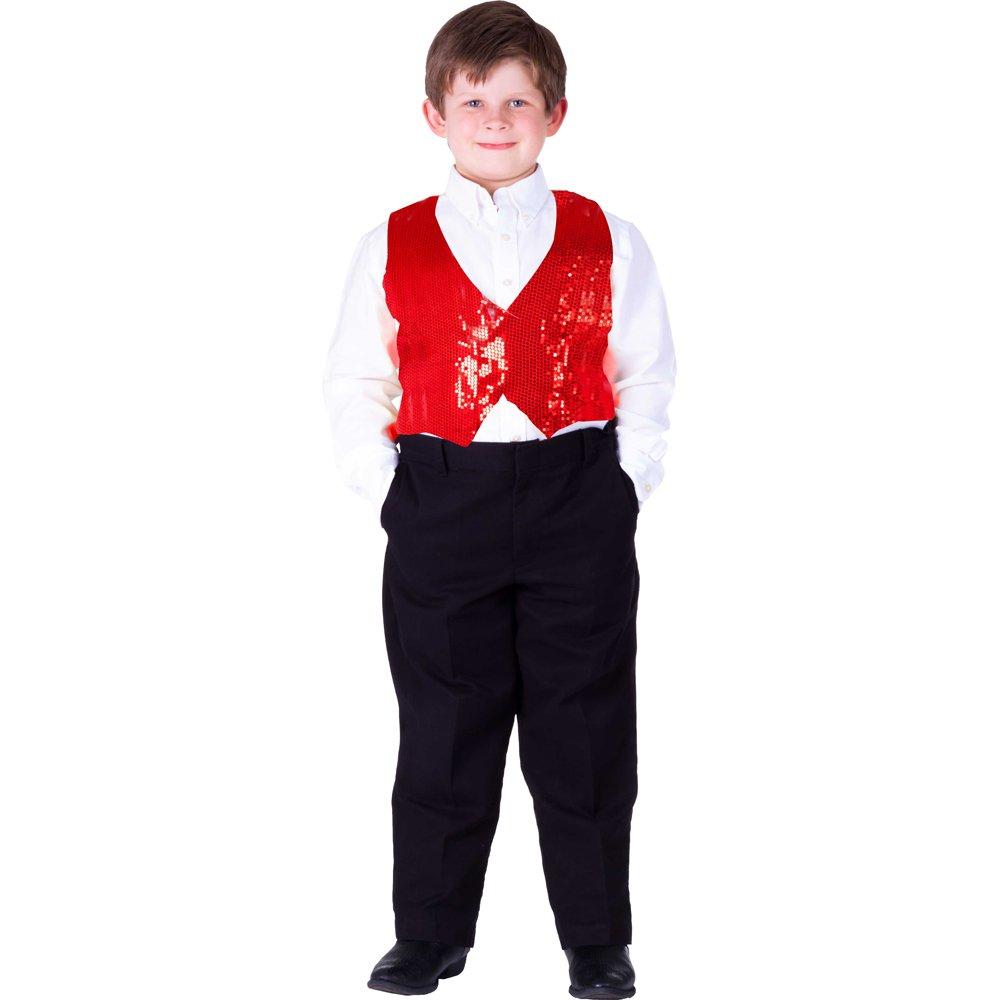 Kids Sequin Vest By Dress Up America