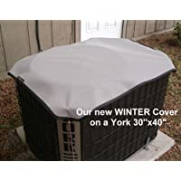 HeavyDuty Beathable Tight Mesh Winter Top Air Conditioner Cover - 40x30 - Gray