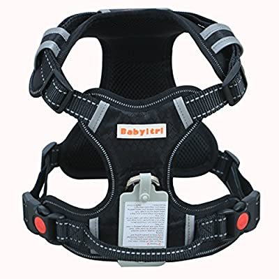 Babyltrl Big Dog Harness No-Pull Adjustable Pet Harness Reflective Oxford Material Soft Vest for Large Dogs Easy Control Harness, XL