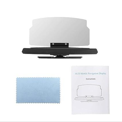 Lorenlli Pantalla HUD de 6.5 Pulgadas Pantalla Head Up Display Seguridad del automóvil Auto Navegación GPS