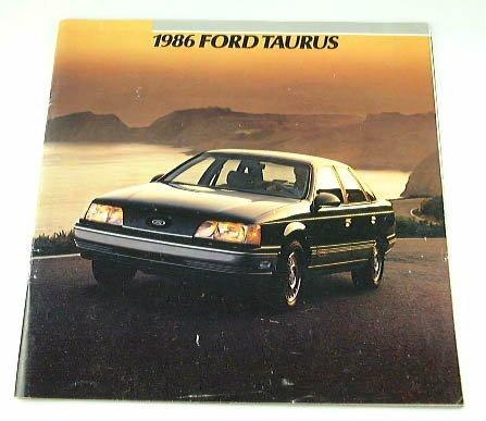 - 1986 86 Ford TAURUS BROCHURE L GL LX MT5
