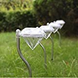 Espero Straight Rod Bright Outdoor Landscape LED Lighting Mini Lawn Light Bent Diamond Lamps for Garden Path Courtyard Spot Light D2.95''H13.4'' White