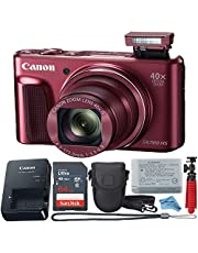 $259 » Canon Powershot SX720 (Red) Point & Shoot Digital Camera + Accessory Bundle + Inspire Digital Cloth