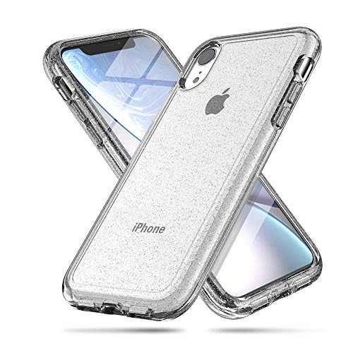 LABILUS iPhone XR case, (Glitter Series) Hybrid Shining & Hard PC Back Protective Cover Case for Girls Women, Compatible with iPhone XR (2018) - Clear