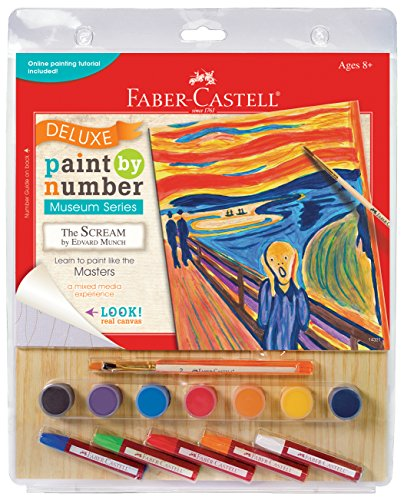 Faber-Castell Young Artists Deluxe Paint By Number Mixed Media Kit - Munch: The - Paint By Artist Number