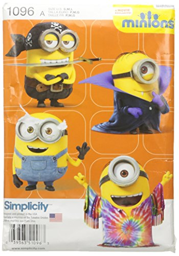 Simplicity Creative Patterns US1096A Childs Minion Costumes, Size A -