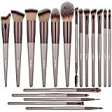 BS-MALL Makeup Brush Set 18 Pcs Premium Synthetic Foundation Powder Concealers Eye shadows Blush Makeup Brushes Champagne Gold Cosmetic Brushes
