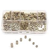 binifiMux 250pcs M3 Female Brass Thread Insertd Knurled Nuts Assortment Kit, Embedment Nuts