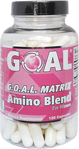 GOAL Naturals - G.O.A.L. MATRIX Amino Acids Complex Pills for Women Silver Label 120 Capsules Easier to Swallow - Glycine Ornithine Arginine Lysine Combination Anti-Aging Blend by GOAL