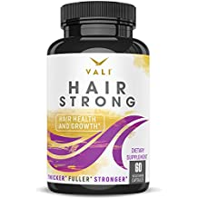 Hair Health Growth Vitamins with Biotin & Keratin - 60 Veggie Capsules. Extra Strength Supplement for Longer Stronger Hair, Skin, Nails. for Women & Men - for Damaged, Thinning & Hair Loss Regrowth