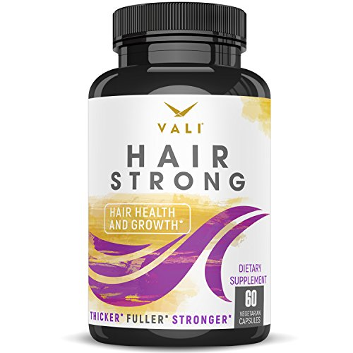 Hair Health Growth Vitamins with Biotin & Keratin - 60 Veggie Capsules. Extra Strength Supplement for Longer Stronger Hair, Skin, Nails. for Women & Men - for Damaged, Thinning & ()