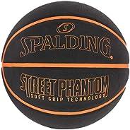 "Spalding Street Phantom Soft Grip Technology Basketball Outdoor Rubber 29.5"" Black/O"
