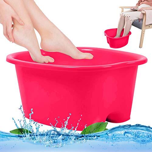 Foot Soaking Bath Basin Foot Spa Bucket Foot Soaking Tub Large Size for Soaking Feet Pedicure and Massager Tub rose red