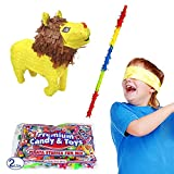 Pinatas Lion Kit Including, Buster Stick, Bandana, 2 lb. Toy and Candy Filler