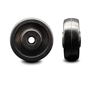 """3.5"""" x 1.25"""" Soft Rubber Wheel Only - 3/8"""" Bore - 200 lbs Capacity per Wheel - Service Caster Brand"""