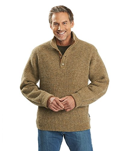 Woolrich Men's The Sweater, Khaki Heather, X-Large