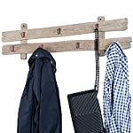 "Excello Global Products Rustic Barnwood Wall Mounted Hanging Entryway Coat Rack. 38""x10"" with 7 Hooks. Coat Rack, hat Organizer, Key Holder for Entryway, Mudroom, Kitchen, Bathroom, Hallway, Foyer"