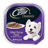 Cesar CANINE CUISINE Wet Dog Food Grilled Chicken Flavor, (Pack of 24) 3.5-oz Trays