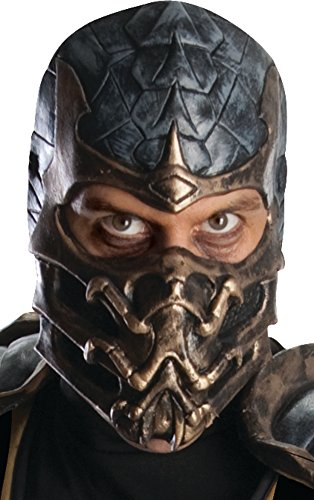 Rubie's Mortal Kombat Deluxe Overhead Scorpion Mask, Brown, One Size -