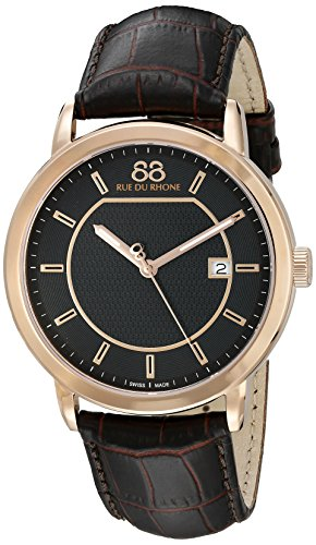 88-Rue-du-Rhone-Mens-87WA130013-Double-8-Analog-Display-Swiss-Quartz-Brown-Watch