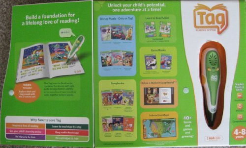 Leapfrog Tag Reading System Set + 12 Books Short and Long Vowels - Learn to Read by Tag Reading System (Image #1)