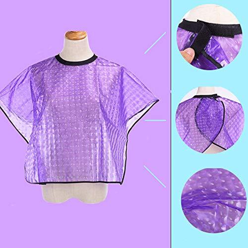 Gotian Hairdresser Cape Gown Cloth Cutting Hair Waterproof Cloth Salon Barber Hairdressing Purple