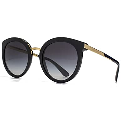 6f3f15ff8cc Dolce   Gabbana DNA Peaked Round Sunglasses in Black DG4268 501 8G 52 52  Gradient