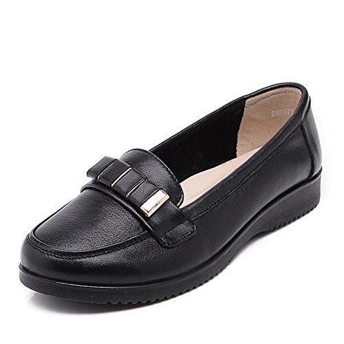 Las mujeres plus size asakuchi zapatos femeninos/ Mamá y fondo plano suave zapatos/escoge los zapatos/Medias y zapatos de mujeres mayores de edad y ocio A